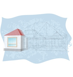 Architecture blueprint vector