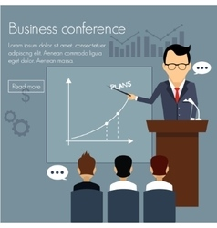 Banners template set conference presentation vector