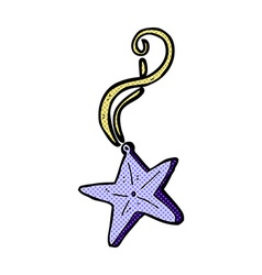 Comic cartoon magic star necklace vector