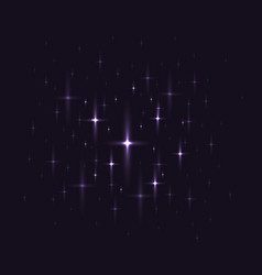 Black background with night sky with stars vector