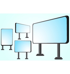 blank billboards vector image