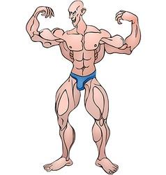 Bodybuilder pose vector image