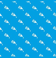 Bottle for eye drops pattern seamless blue vector