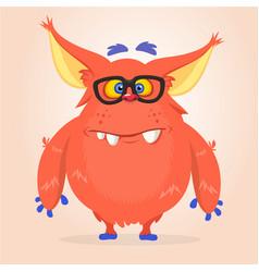 cartoon of a red halloween monster vector image vector image