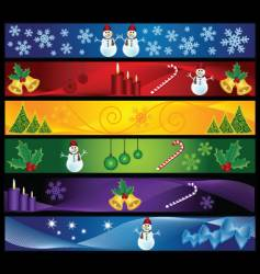 chrsitmas banners vector image