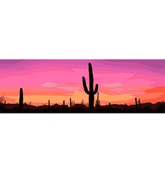 Desert background vector