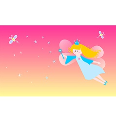 Dreamy fairy vector