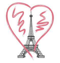grunge france poster with eiffel tower vector image vector image