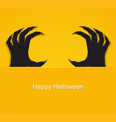 halloween backgroung poster with zombie dead vector image