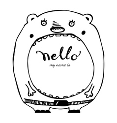 Hello hand drawn lettering vector