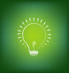 Idea Light Bulb vector image vector image