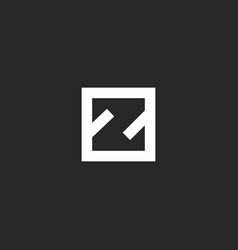 Letter z logo monogram minimal style simple vector