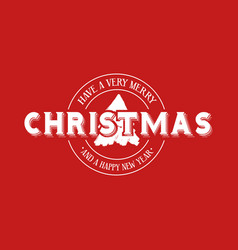 merry christmas emblem calligraphy vector image vector image