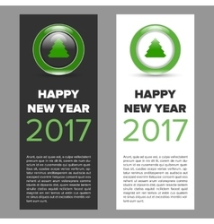 New year 2017 banner vector