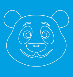 Panda bear icon outline style vector