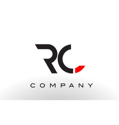Rc logo letter design vector