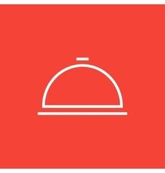 Restaurant cloche line icon vector