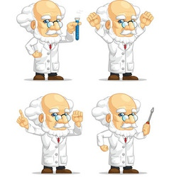 Scientist or professor customizable mascot vector