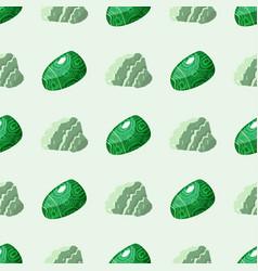 Semi precious gemstones seamless pattern mineral vector