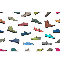 Shoes seamless pattern vector