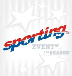 sporting text logo vector image