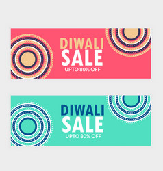 Two diwali sale banner vouchers for your brand vector