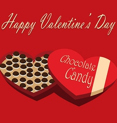 Valentines day box of chocolate candy red vector