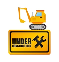 web under construction design vector image