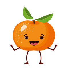 White background with realistic tangerine fruit vector