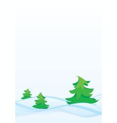 Winter firs vector