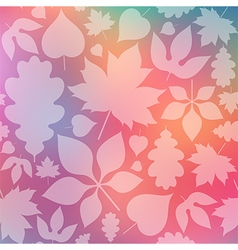 Colorful autumn background vector image