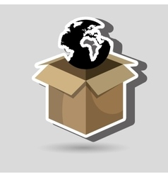box global globe vector image