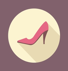 Shopping high-heeled shoes flat icon vector