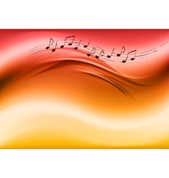 Abstract music red vector