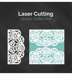 Laser Cut Template Card For Cutting Cutout vector image