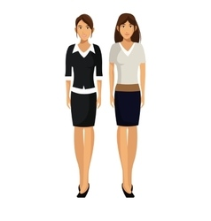 Women team work business together vector