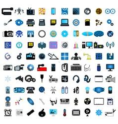 Set of social media icons vector