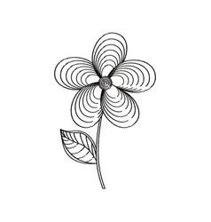 jasmine flower decoration sketch vector image