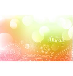 happy diwali greeting wallpaper vector image