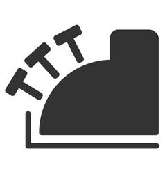 Cash register icon vector