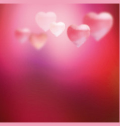 Pink blurred heart vector