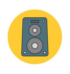 Music speaker flat line icon vector