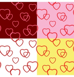 Background with hearts for valentine day - set vector