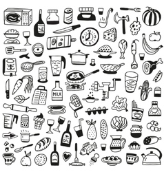 Cookery food - doodles collection vector