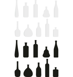 Cartoon set of wine bottles vector