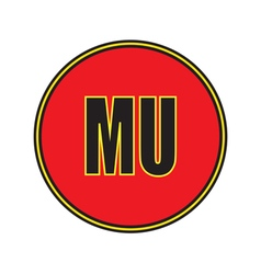 Icon manchester united football club vector