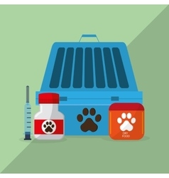 Animal shop design vector