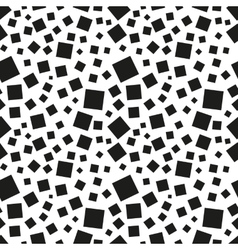 Abstract black squares seamless pattern vector image vector image