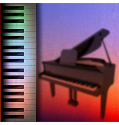 Abstract grunge music background with grand piano vector