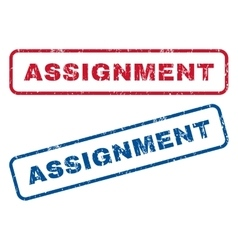 Assignment rubber stamps vector